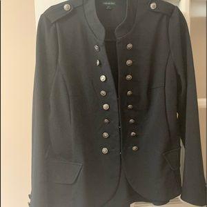 Black military style blazer